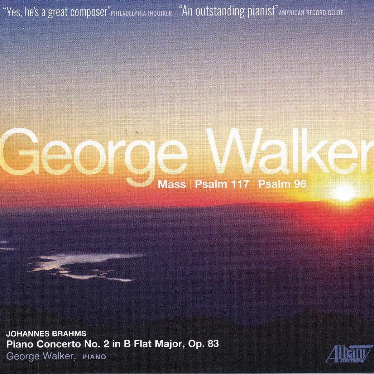 Hurricane Images Inc CD cover for Pulitzer Prize Winner George Walker